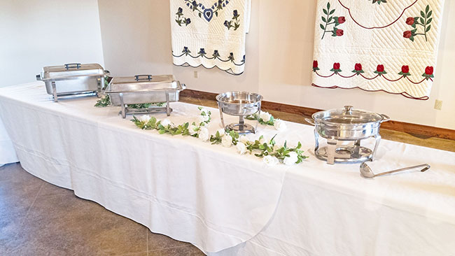 Buffet Style Serving Room Venue Dining Hall